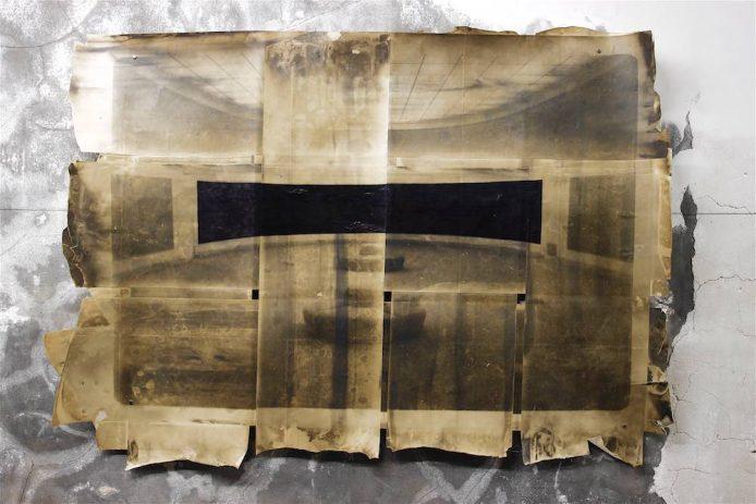 Nymphéas 1992, Fotogramm, Kugelschreiber auf Baryt, 76 x 110 cm