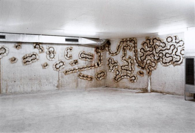 Bananastrip 1992 Fotogramm auf Baryt, Installation