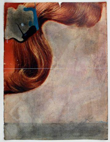 im Bild 2013  Öl, Wachs auf Illustrierte, 34 x 22 cm