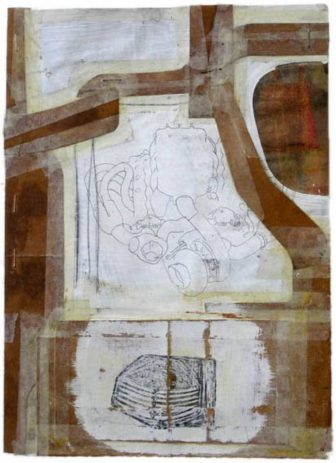 Motor/Lüfter 2006, Öl, Wachs auf Illustrierte, 31,5x24cm