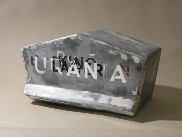 Urania 2008, Zinkblech, Lack, 15 x 30 x 15 cm