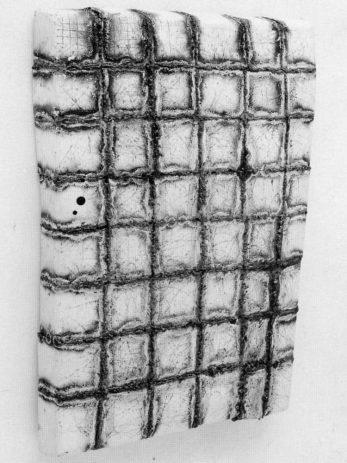 Eiskastentür 1991, Eisenblech, 43-teilig, 90 x 50 x 10 cm