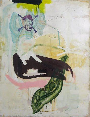 Lourdes 2007, 200 x 150 cm, Öl, verschiedene Materialien auf Sperrholz