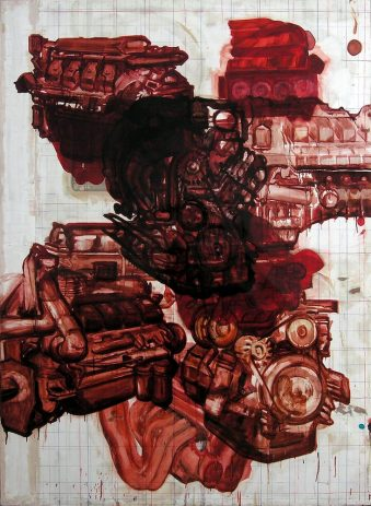 Magdalen 2007, 200 x 150 cm, Öl, verschiedene Materialien auf Sperrholz