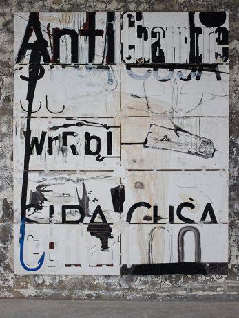 Vorzimmerbild 2012, Öl auf Holz, 215 x 175 cm