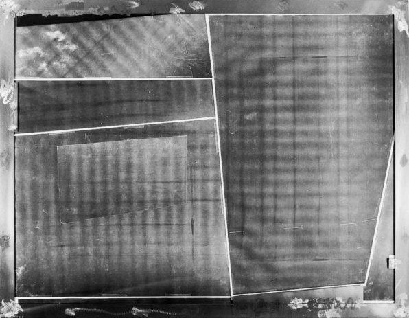 Testbild II 1989, 100 x 130 cm, Kopie auf Nessel, Metall, Acryl